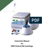 Vwr Clinical 200 Large Capacity Centrifuge