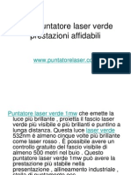 1mw Puntatore Laser Verde Prestazioni Affidabili