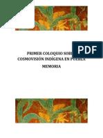I Coloquio Cosmovision Indigena Puebla