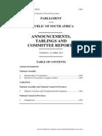 Nkandla Committee Document