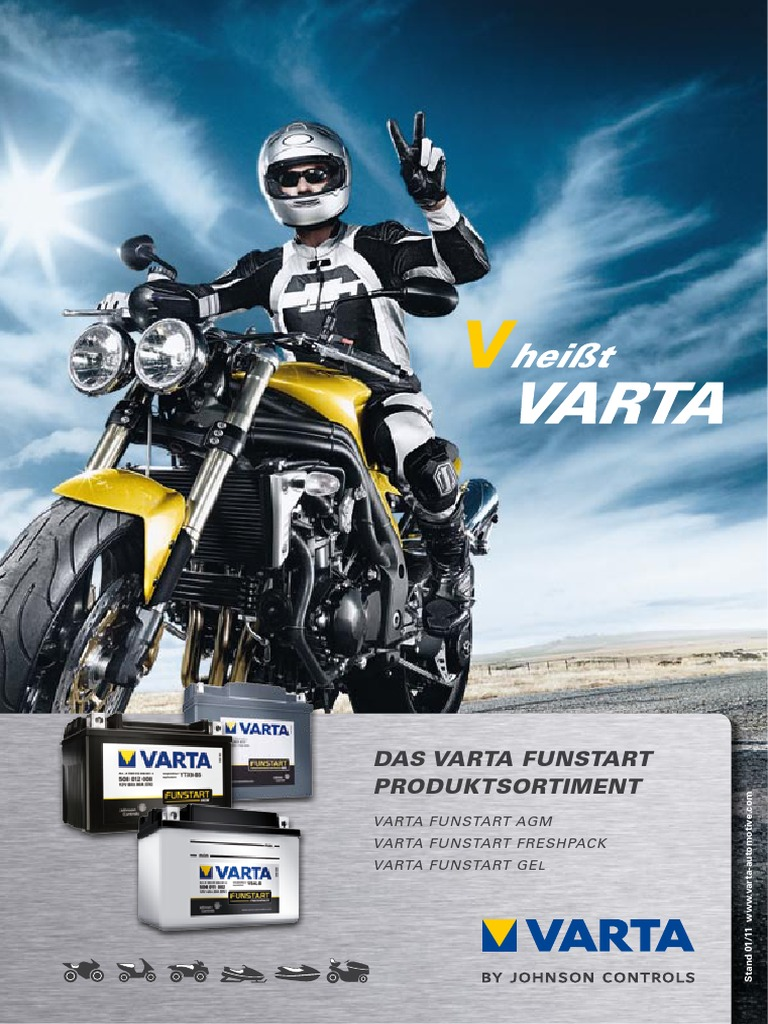 Batterie YB 4L-B z.B Aprilia RX 125 11 KW Bj: - Volt//AMP 12//4