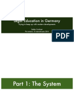 Legal Education in Germany - Trying to keep up with modern developments
