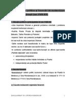 Proiectele Politice Şi Încercări de Modernizare a Statelor Româneşti