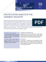 Specification Sheets in Garment Industry