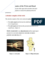 Biomechanics of the Wrist and Hand