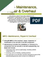 MRO-Maintenance, Repair & Overhaul