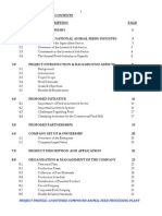 Project Profile for Lyantonde Animal Feed Mill - Table of Contents