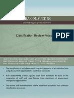 Classification Review Processes