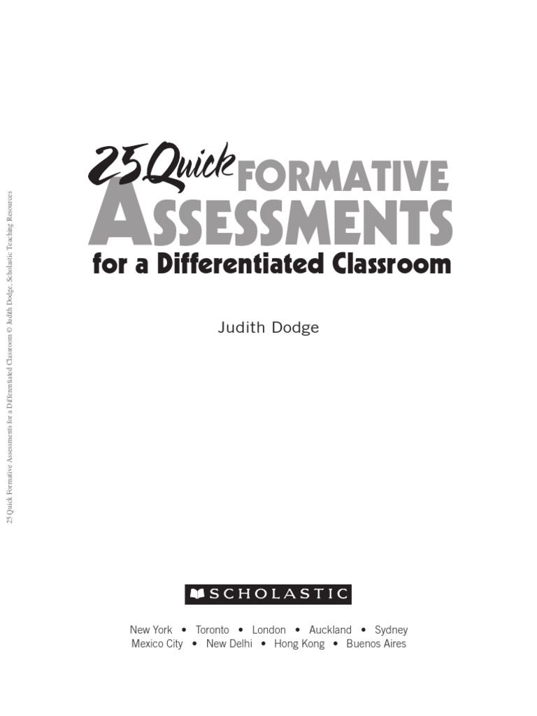 25 quick formative assessments differentiated instruction 25 quick formative assessments differentiated instruction educational assessment fandeluxe Images