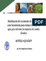 Modelización Del Crecimiento de Los Cultivos (FAO)
