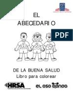 Abecedario de La Buena Salud - Español e Inglés (Colorear)