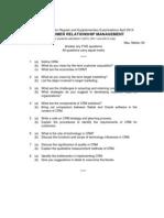 9E00305d Customer Relationship Management 15-4-2014