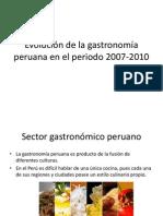 Evolución de La Gastronomía Peruana en El Periodo
