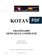 Official grammar of Kotava (v3.05, sept 2005)