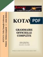Official grammar of Kotava (v3.11, april 2009)