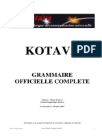 Official grammar of Kotava (v3.08, march 2007)