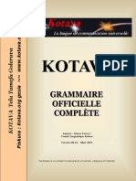 Official grammar of Kotava (v3.14, march 2013)
