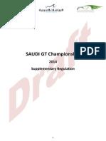Saudi GT Championship Regulation