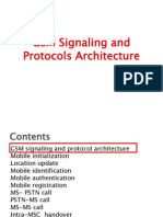 GSM Signaling and Protocols Architecture