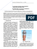 05 - Nanu - Study on Ultrasonic Stepped Horn Geometry Design and FEM Simulation