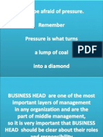 Roles and Responsibilities of Business Head 13-14