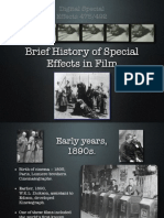 Brief History of Special Effects in Film