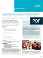 25127 Cambridge Primary Maths Curriculum Framework