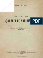 Din Istoria Scoalei de Arhivistica