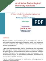 Azeotropic & Extractive Distillation