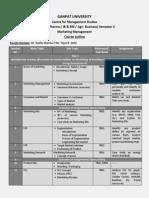 218 MM MBA(Pharma IB&RM FS) Sem II Course Out Line