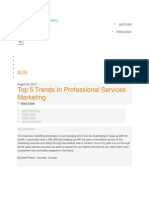 About Recent Trends in Service Marketing 1