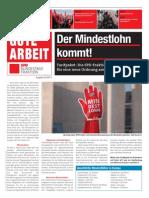 Zeitung Gute Arbeit 02 2014