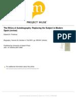 Revew the Etics on Autobiographics