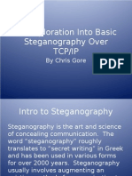 An Exploration Into Basic Steganography Over TCP IP