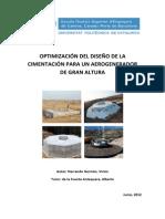 Optimización Del Diseño de La Cimentación Para Un Aerogenera