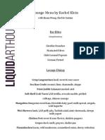 Liquidarthouse Menu
