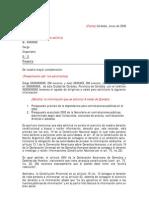 Modelo de pedido de información pública en la provincia