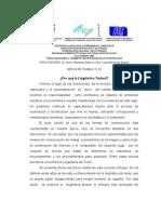 La Linguistica Textual