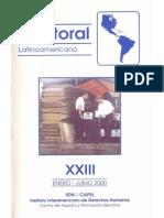 2000 CAPEL Boletín electoral XXIII. Elecciones presidenciales y parlamentarias