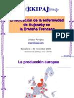 Erradicación de la enfermedad de Aujeszky en la Bretaña Francesa