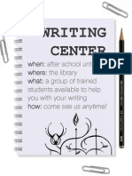 Writing Center Poster