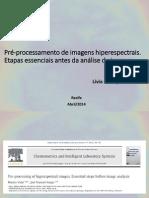 Pré-processamento de Imagens Hiperespectrais