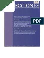 2002 ELECCIONES. La Investigación Sobre Elecciones, Un Balance Necesario.