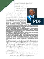Historia de Los Presidentes de Guatemala (Democratica)