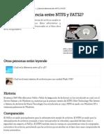 ¿Cuál Es La Diferencia Entre NTFS y FAT32_ _ EHow en Español