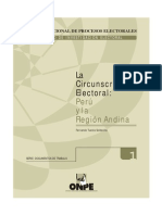 2002 La Circunscripcion Electoral, Peru y La Region Andina