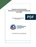 2007 Derecho de participación política de los extranjeros residentes en Perú