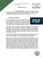 Proyecto de Ley No. 2873/2013-CR