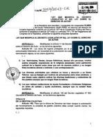 Proyecto de Ley No. 3157/2013-CR