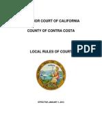 Contra Costa Local Rules 2013